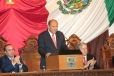 El Gobernador Rubén Moreira Valdez, al rendir su V Informe de Resultados