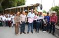 Entrega Gobernador Rubén Moreira camión escolar en beneficio de estudiantes de diversos ejidos de Nadadores.