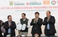 El Gobernador Rubén Moreira Valdez encabezó el evento de promulgación de la Ley de la Dirección de Pensiones de Piedras Negras.