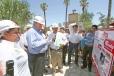 El Gobernador Rubén Moreira supervisó los trabajos de construcción, remodelación y rehabilitación de la plaza principal del municipio de Viesca.