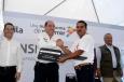el Gobernador Rubén Moreira Valdez realizó la entrega de doce unidades de  transporte escolar rural