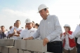 Inicia Rubén Moreira la construcción del Gimnasio-Auditorio de Usos Múltiples CECyTEC