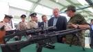 Visita Gobernador Rubén Moreira Valdez industria militar