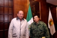Da Rubén Moreira bienvenida a nuevo Comandante de la Sexta Zona Militar