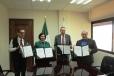 Firma Secretaría de Educación convenio con el INE y el IEC