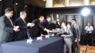 Asiste Rubén Moreira a premiación de la Segunda Competencia Nacional de Debate sobre Derechos Humanos.